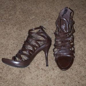 Beyond Brown Caged heels Size 8